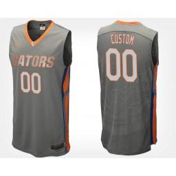 Florida Gators #00 Custom Gray Road Jersey College Basketball