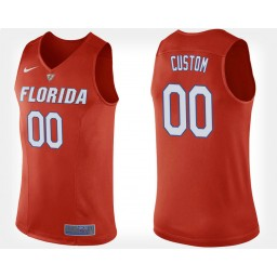 Florida Gators #00 Custom Orange Alternate Jersey College Basketball
