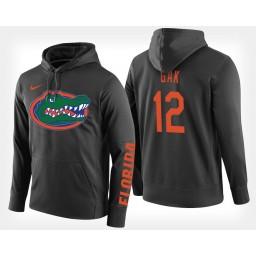 Florida Gators #12 Gorjok Gak Black Hoodie College Basketball