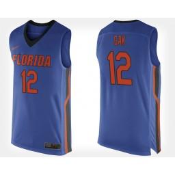 Women's Florida Gators #12 Gorjok Gak Blue Home Authentic College Basketball Jersey