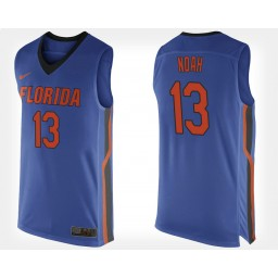 Women's Florida Gators #13 Joakim Noah Blue Home Authentic College Basketball Jersey