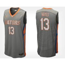 Women's Florida Gators #13 Kevarrius Hayes Gray Road Authentic College Basketball Jersey