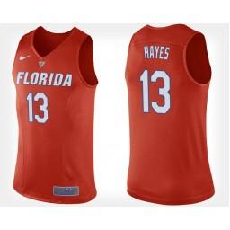 Women's Florida Gators #13 Kevarrius Hayes Orange Alternate Authentic College Basketball Jersey
