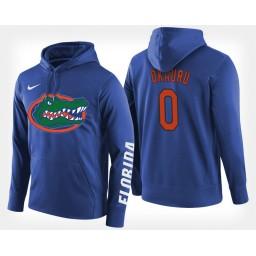 Florida Gators #0 Mike Okauru Blue Hoodie College Basketball