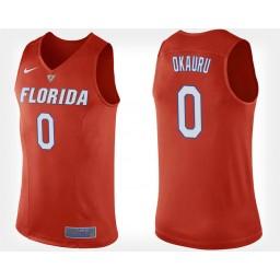 Women's Florida Gators #0 Mike Okauru Orange Alternate Authentic College Basketball Jersey