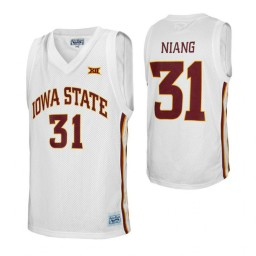 Iowa State Cyclones #31 Georges Niang White Authentic College Basketball Jersey
