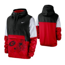 Georgia Bulldogs Black Colorblock Anorak Quarter-Zip Jacket