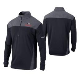 Georgia Bulldogs Black Omni-Wick Standard Quarter-Zip Jacket