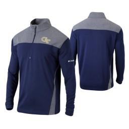 Georgia Tech Yellow Jackets Navy Omni-Wick Standard Quarter-Zip Jacket