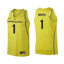 Youth Oregon Ducks #1 Kenny Wooten Authentic College Basketball Jersey gold