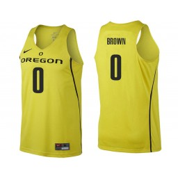 Youth Oregon Ducks #0 Troy Brown Authentic College Basketball Jersey gold