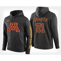Minnesota Golden Gophers #21 Bakary Konate Black Hoodie College Basketball