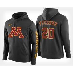 Minnesota Golden Gophers #20 Davonte Fitzgerald Black Hoodie College Basketball