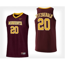 Minnesota Golden Gophers #20 Davonte Fitzgerald Maroon Home Authentic College Basketball Jersey