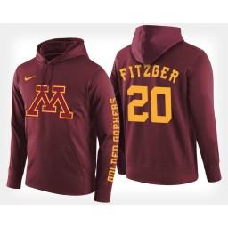 Minnesota Golden Gophers #20 Davonte Fitzgerald Maroon Hoodie College Basketball