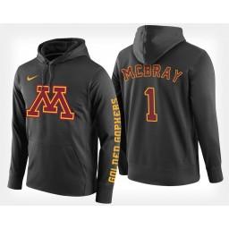 Minnesota Golden Gophers #1 Dupree McBrayer Black Hoodie College Basketball
