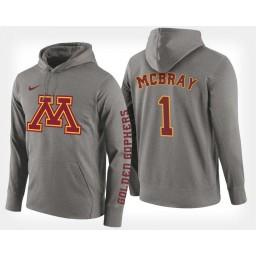Minnesota Golden Gophers #1 Dupree McBrayer Gray Hoodie College Basketball