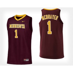 Minnesota Golden Gophers #1 Dupree McBrayer Maroon Home Authentic College Basketball Jersey