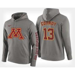 Minnesota Golden Gophers #13 Hunt Conroy Gray Hoodie College Basketball