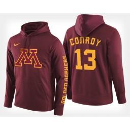 Minnesota Golden Gophers #13 Hunt Conroy Maroon Hoodie College Basketball