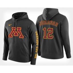 Minnesota Golden Gophers #12 Jarvis Johnson Black Hoodie College Basketball