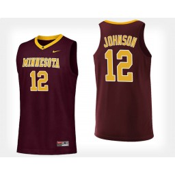Minnesota Golden Gophers #12 Jarvis Johnson Maroon Home Authentic College Basketball Jersey