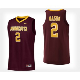 Minnesota Golden Gophers #2 Nate Mason Maroon Home Authentic College Basketball Jersey