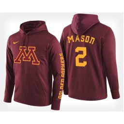 Minnesota Golden Gophers #2 Nate Mason Maroon Hoodie College Basketball