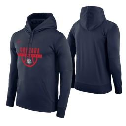 Gonzaga Bulldogs Navy Basketball Drop Circuit Hoodie