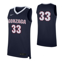 Gonzaga Bulldogs #33 Authentic College Basketball Jersey Navy