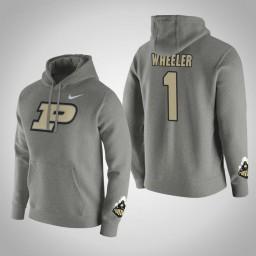 Purdue Boilermakers #1 Aaron Wheeler Men's Gray Pullover Hoodie