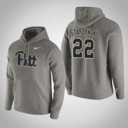 Pittsburgh Panthers #22 Anthony Starzynski Men's Gray Pullover Hoodie