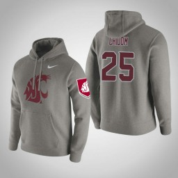 Washington State Cougars #25 Arinze Chidom Men's Gray Pullover Hoodie