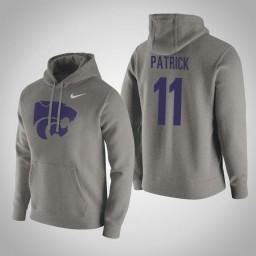 Kansas State Wildcats #11 Brian Patrick Men's Gray Pullover Hoodie