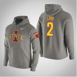 Iowa State Cyclones #2 Cameron Lard Men's Gray College Basketball Hoodie