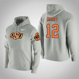 Oklahoma St Cowboys #12 Cameron McGriff Men's Gray College Basketball Hoodie