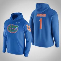 Florida Gators #1 Chase Johnson Men's Gray College Basketball Hoodie