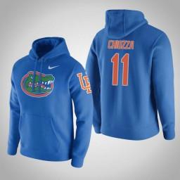 Florida Gators #11 Chris Chiozza Men's Gray College Basketball Hoodie