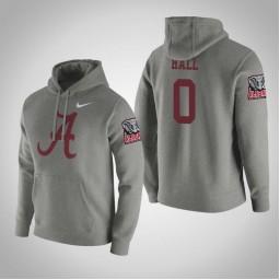 Alabama Crimson Tide #0 Donta Hall Men's Gray College Basketball Hoodie