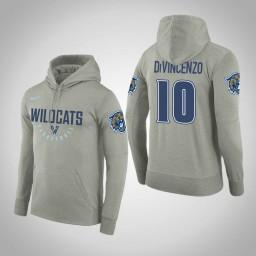 Villanova Wildcats #10 Donte DiVincenzo Men's Gray College Basketball Hoodie