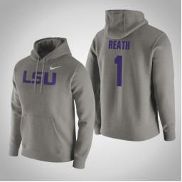 LSU Tigers #1 Duop Reath Men's Gray Pullover Hoodie