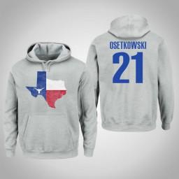 Texas Longhorns #21 Dylan Osetkowski Men's Gray College Basketball Pullover Hoodie