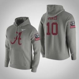 Alabama Crimson Tide #10 Herbert Jones Men's Gray College Basketball Hoodie