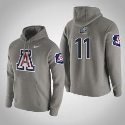 Arizona Wildcats #11 Ira Lee Men's Gray Pullover Hoodie