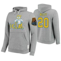 UCLA Bruins #20 Isaac Wulff Men's Gray College Basketball Hoodie