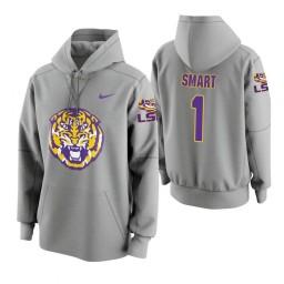 LSU Tigers #1 Ja'vonte Smart Men's Gray College Basketball Hoodie