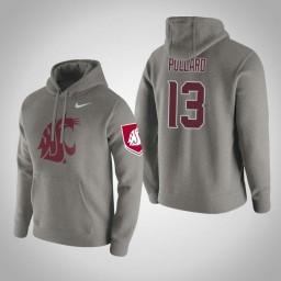 Washington State Cougars #13 Jeff Pollard Men's Gray Pullover Hoodie