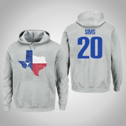 Texas Longhorns #20 Jericho Sims Men's Gray College Basketball Pullover Hoodie