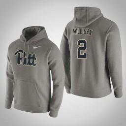 Pittsburgh Panthers #2 Jonathan Milligan Men's Gray Pullover Hoodie