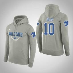 Kentucky Wildcats #10 Jonny David Men's Gray College Basketball Hoodie